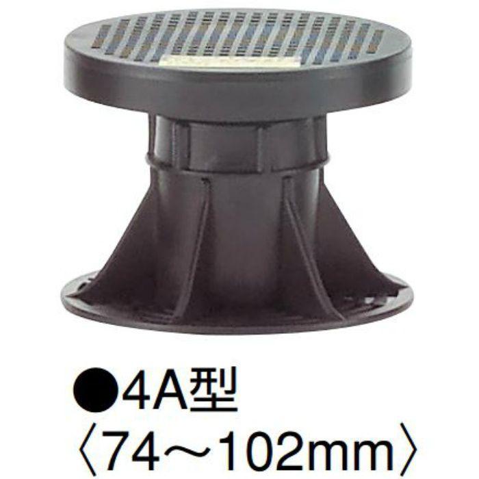 マルチポスト4A型 MPST4A 高さ調整範囲74~102mm ブラック 100本/ケース