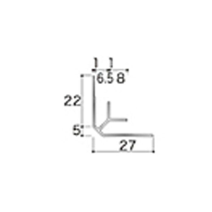 AB3JN アルミジョイナー3(入隅) 6.2mmタイプ 2430mm 【地域限定】
