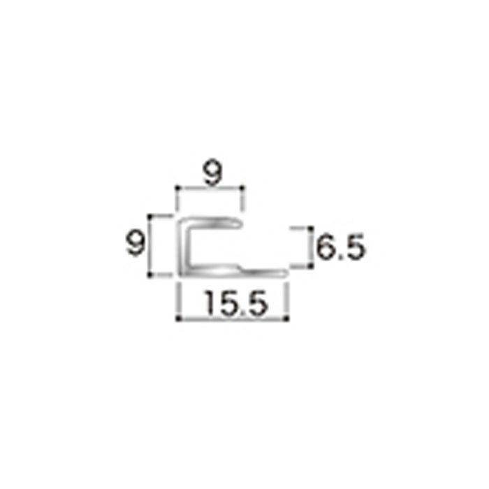 AB4JN アルミジョイナー4(見切り) 6.2mmタイプ 2430mm 【地域限定】