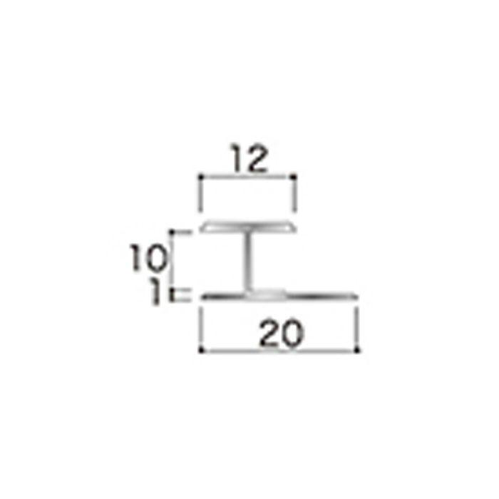 AB5JN アルミジョイナー5(平目地) 9.2mmタイプ 2730mm 【地域限定】