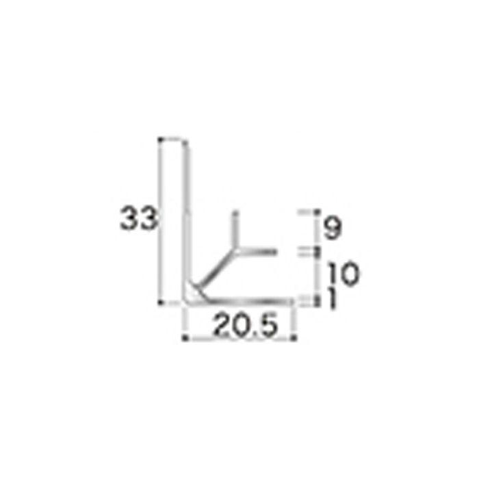AB7JN アルミジョイナー7(入隅) 9.2mmタイプ 2730mm 【地域限定】