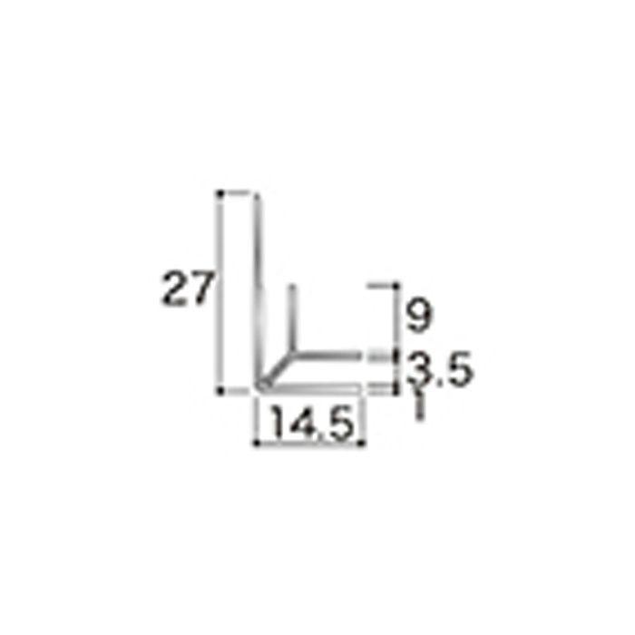 AB11JN アルミジョイナー11(入隅) 3.2mmタイプ 2730mm 【地域限定】