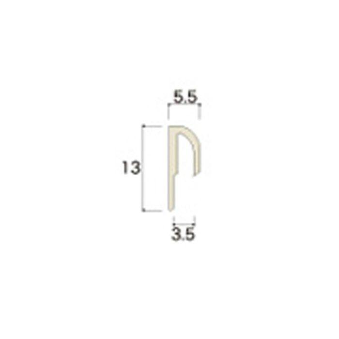 AB51JNA ABSジョイナー51(水平見切り) 3.2mmタイプ 3075mm ホワイト 【地域限定】