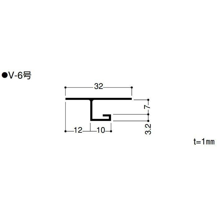 【バラ出荷品】 F見切 V-6号 FV6 長さ1.82m シロ 1本
