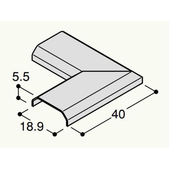 【バラ出荷品】 フラット見切 出隅カバー FRMDV アイボリー 4個/袋