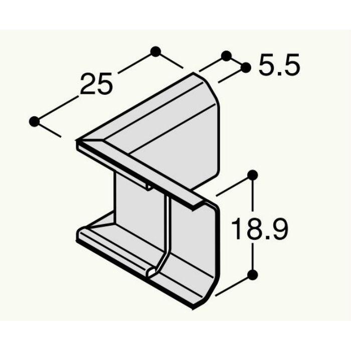 【バラ出荷品】 フラット見切 水平入隅 FRMSCV アイボリー 4個/袋