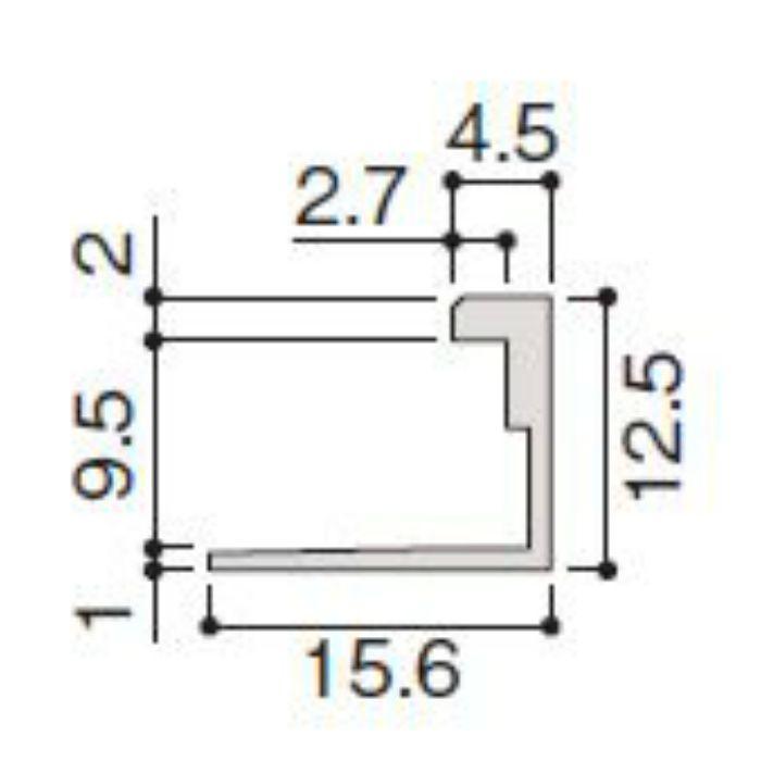 WP20-B6ZT 不燃壁材グラビオエッジ専用施工部材 アルミJ型見切 Tシルバー