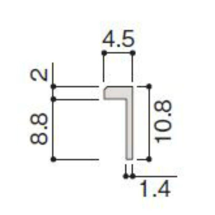 WP20-B2ZT 不燃壁材グラビオエッジ専用施工部材 アルミ見切 Tシルバー