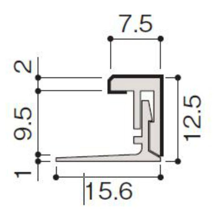 WF79-B60-42 不燃壁材グラビオエッジ専用施工部材 樹脂J型見切 Tシルバー