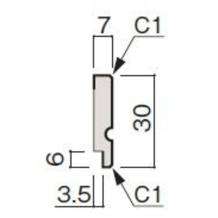 WF63-B974-92 グラビオ専用施工部材 木目柄(3mm) UB74用回り縁