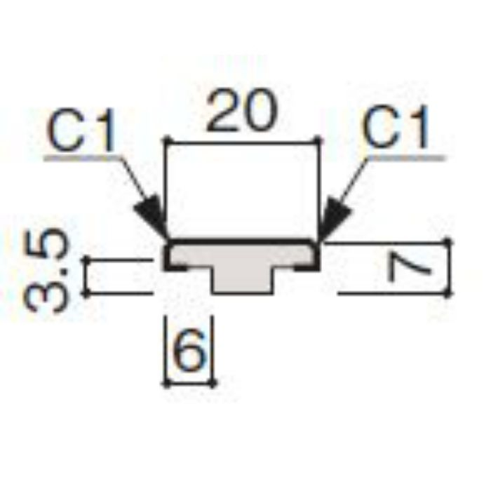 WF63-B511-42 グラビオ専用施工部材 木目柄(3mm) UB11用天井施工用継手見切