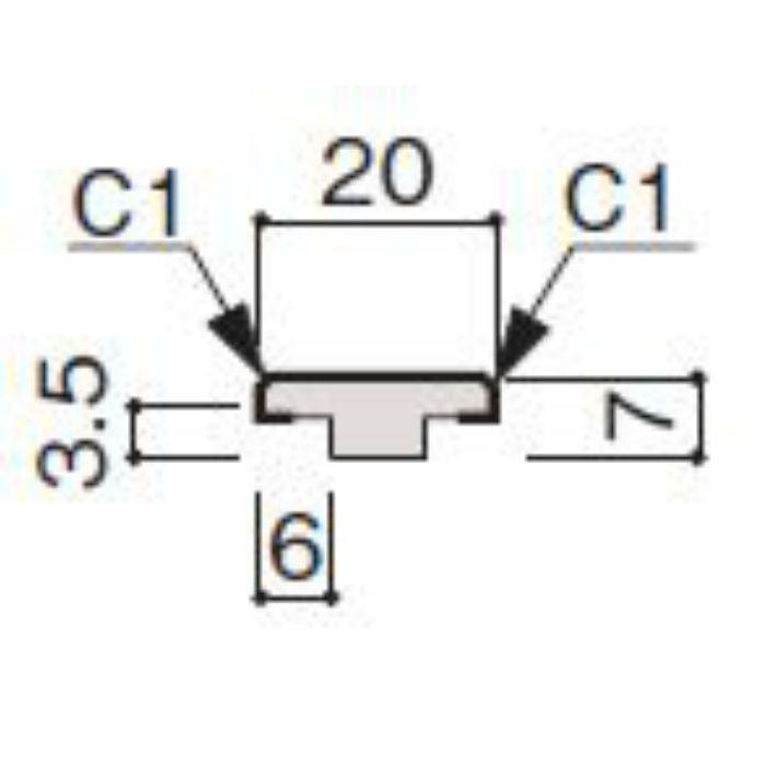 WF63-B537-42 グラビオ専用施工部材 木目柄(3mm) UB37用天井施工用継手見切