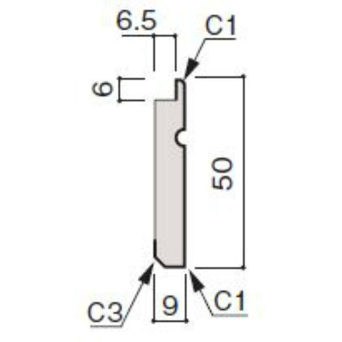 WF66-B814-92 グラビオ専用施工部材 UB木目柄(6mm) UB14用巾木
