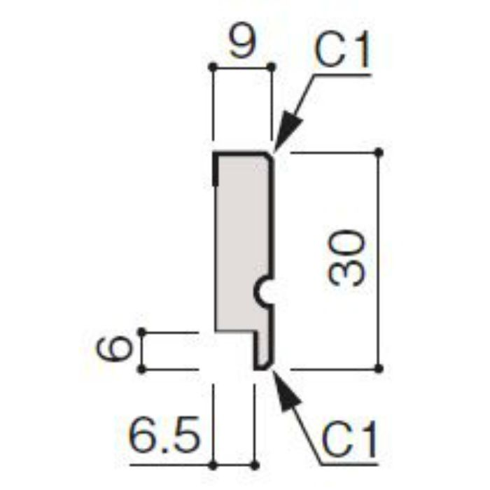 WF66-B930-92 グラビオ専用施工部材 UB木目柄(6mm) UB30用回り縁