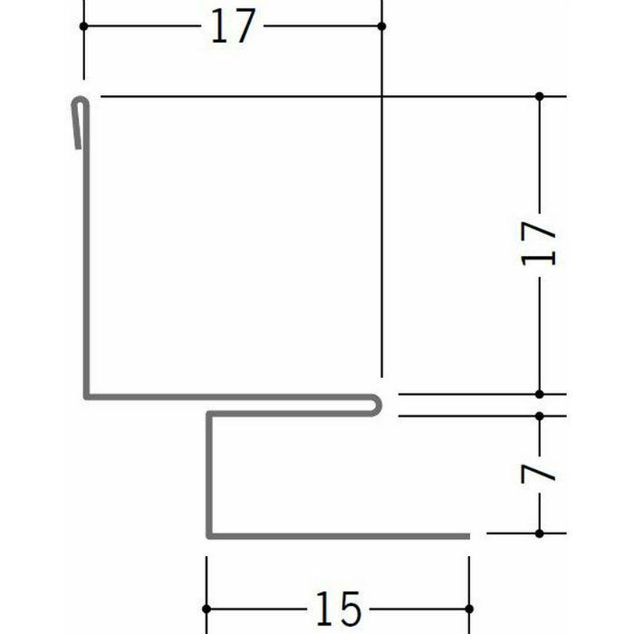 出隅・入隅ジョイナー 金属折曲げ 亜鉛入隅6B アエン 1.82m 63157
