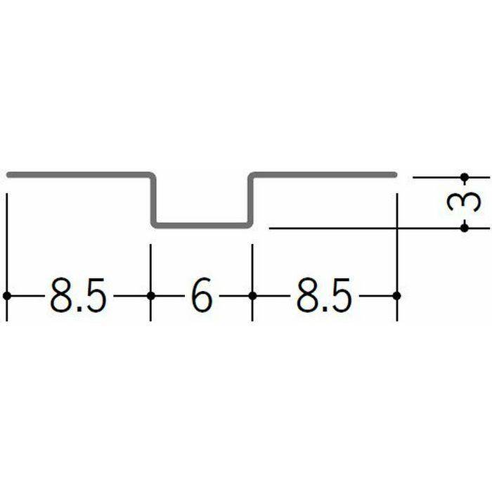 ハット型ジョイナー 金属折曲げ 目地ジョイナー(アエン目地板) アエン 1.82m 63166
