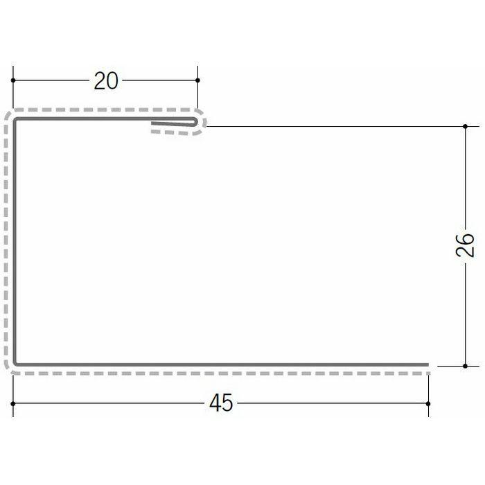断熱材用ジョイナー 金属折曲げ カラー鉄板コ型26 クリーム 1.82m 63030-2