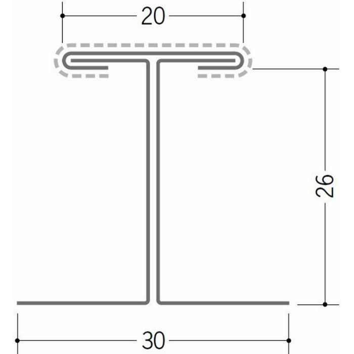断熱材用ジョイナー 金属折曲げ カラー鉄板H型26 ホワイト 1.82m 63031-1