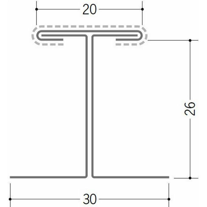 断熱材用ジョイナー 金属折曲げ カラー鉄板H型26 クリーム 1.82m 63031-2