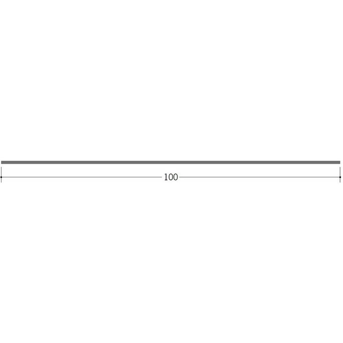 切板・水切・Tバー 金属折曲げ ボンデ鋼板0.8x100 ボンデ 1.82m 63088