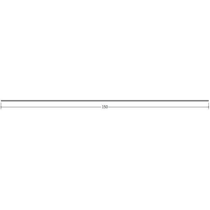 切板・水切・Tバー 金属折曲げ ボンデ鋼板0.8x150 ボンデ 1.82m 63090