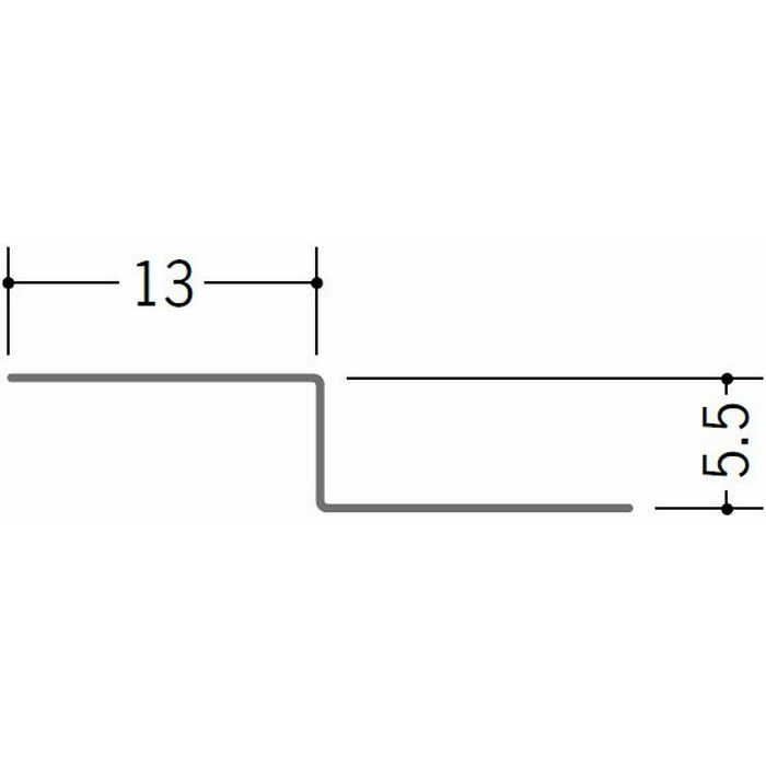 切板・水切・Tバー 金属折曲げ 亜鉛折曲水切5 アエン 1.82m 63241
