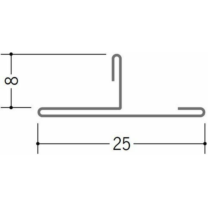 切板・水切・Tバー 金属折曲げ 亜鉛折曲TCK25-8 アエン 1.82m 63251