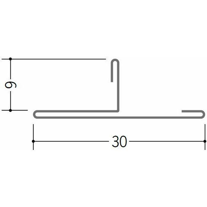 切板・水切・Tバー 金属折曲げ 亜鉛折曲TCK30-9 アエン 1.82m 63255