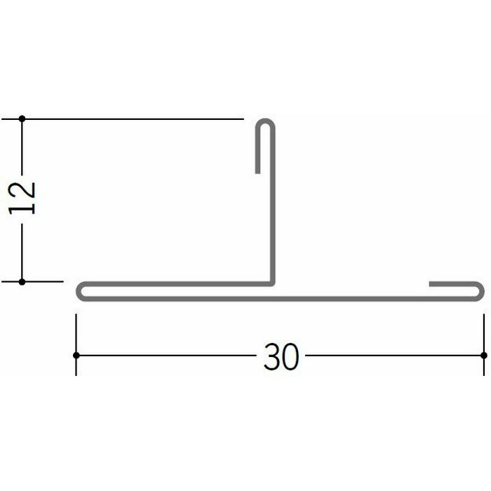 切板・水切・Tバー 金属折曲げ 亜鉛折曲TCK30-12 アエン 1.82m 63252
