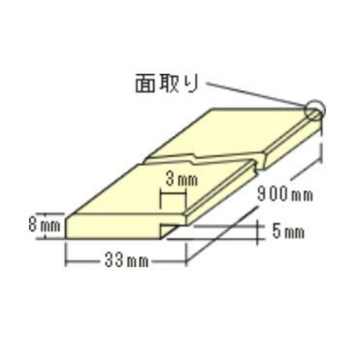トッパーコルク 額縁用(平)HG8 コルク造作材 掲示板用コルク部材