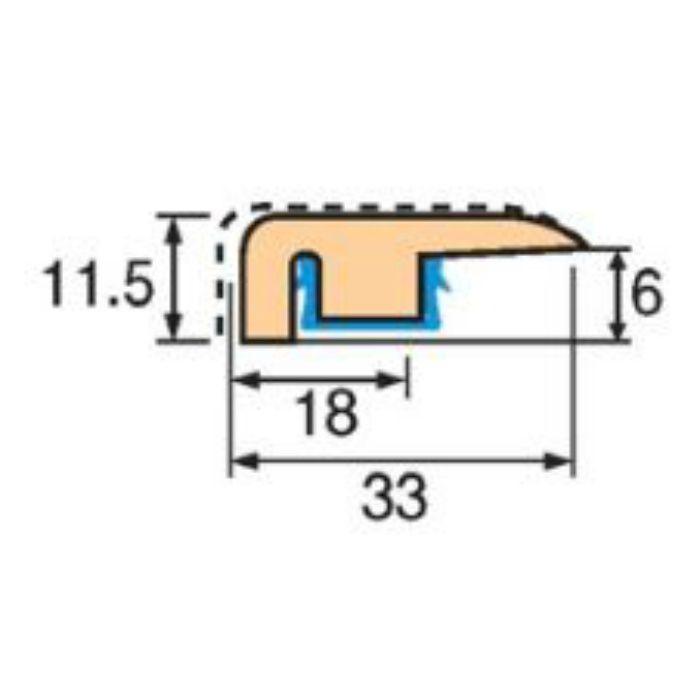 トッパーコルク コルク柄合成壁ミキリSW-31 スピード施工コルクフローリング専用納め部材