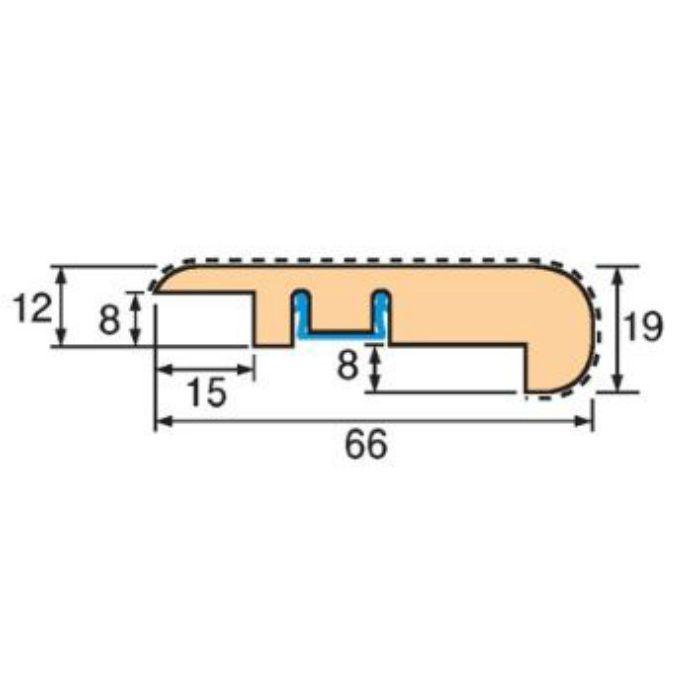 トッパーコルク コルク柄合成框SK-04 スピード施工コルクフローリング専用納め部材