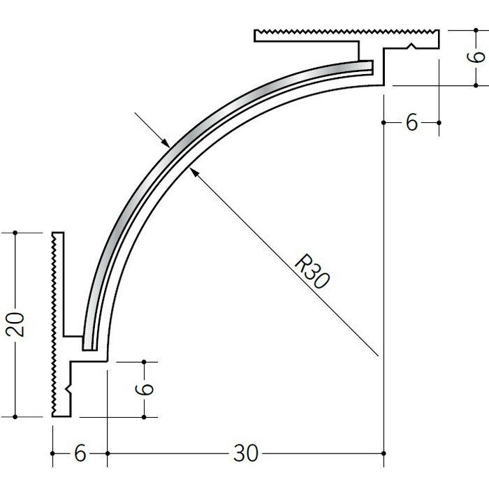 クリーンルーム用ボーダー ビニール PSR-430直角入隅(天井) オフホワイト 1辺あたり200mm(働き寸法) 39211