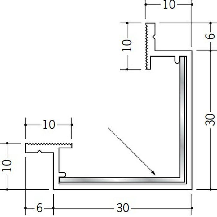 クリーンルーム用ボーダー ビニール SPB-130・PD-9三方出隅(天井) オフホワイト 1辺あたり200mm(働き寸法) 39231