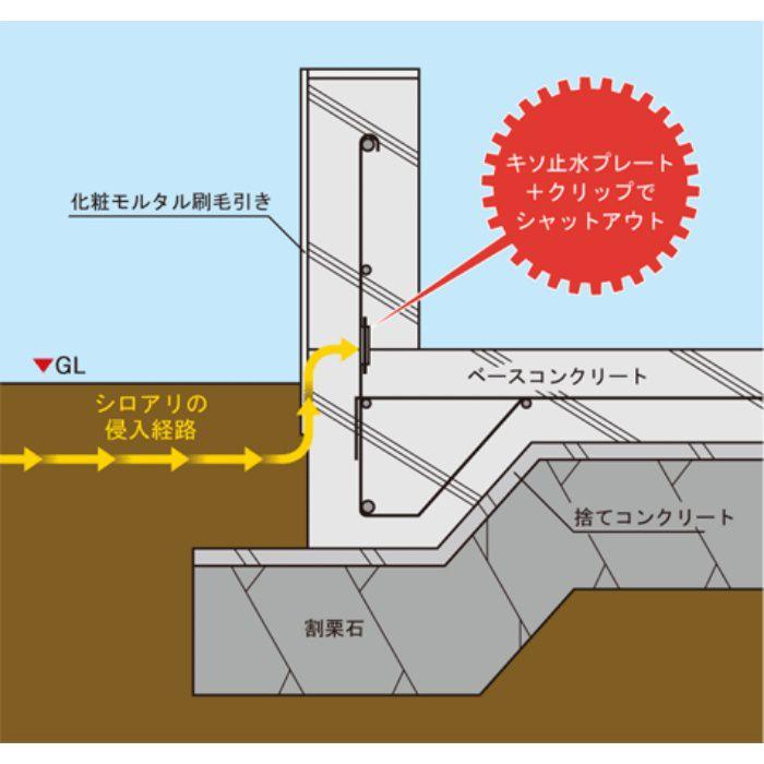 KSP-5430 キソ止水プレート 鉄筋D10対応 15m×2巻入り