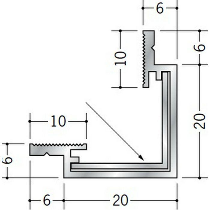クリーンルーム用ボーダー アルミ CRS-1・AD-1三方出隅(天井) シルバー 55184