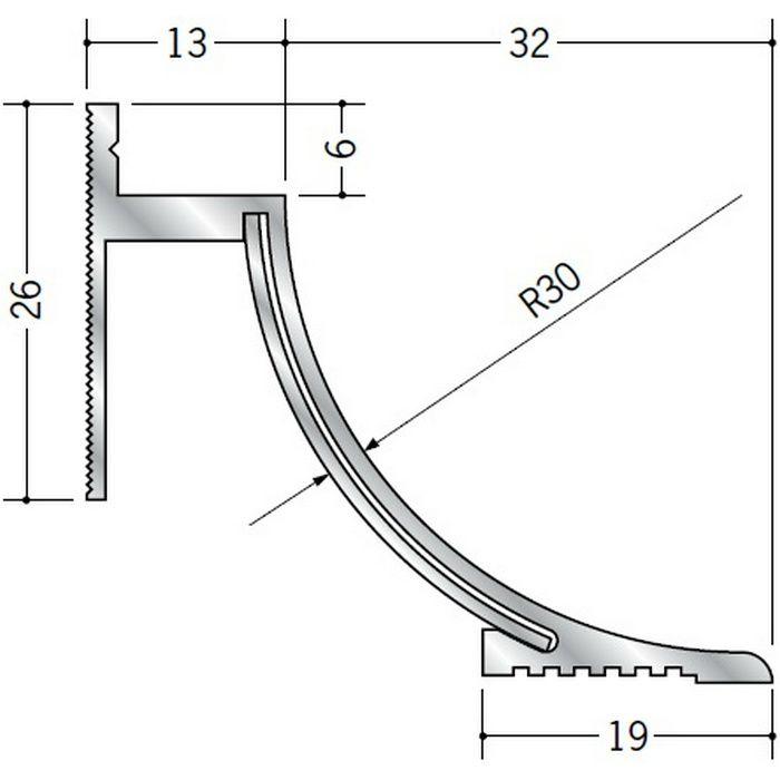 クリーンルーム用ボーダー アルミ CPB-5 直角入隅(床) 1辺あたり250mm(働き寸法) 57079