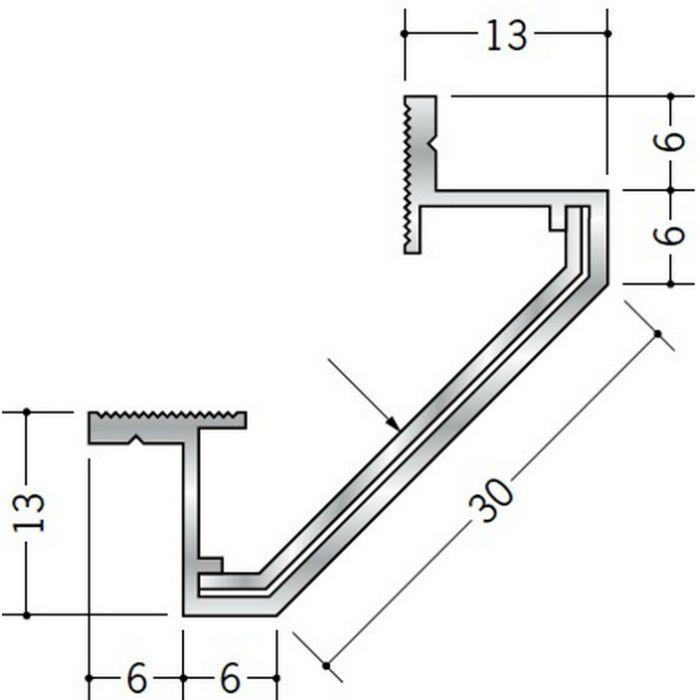 クリーンルーム用ボーダー アルミ CPB-2・CPB-7三方出隅(天井・天井9mm) シルバー 1辺あたり250mm(働き寸法) 55198