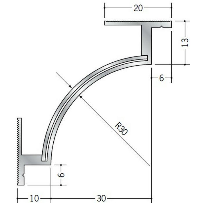 クリーンルーム用ボーダー アルミ CPB-2直角入隅(天井12mm) シルバー 1辺あたり250mm(働き寸法) 57069