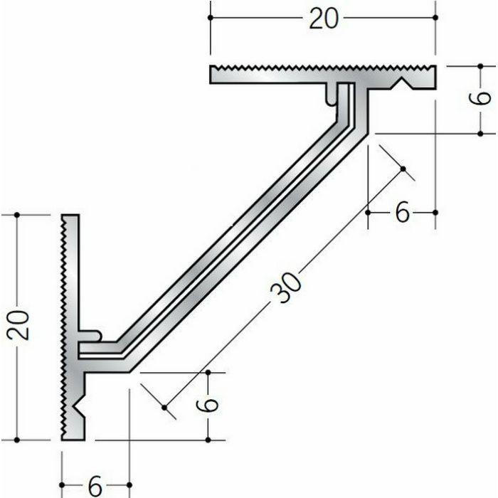 クリーンルーム用ボーダー アルミ CMR-1三方入隅(天井) シルバー 1辺あたり250mm(働き寸法) 56090