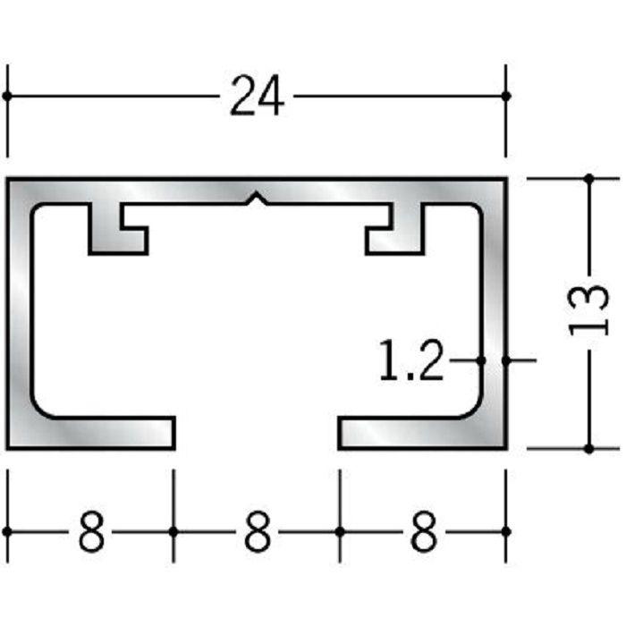 ピクチャーレール ビス止めタイプ アルミ PR-10F用サイドカバー ホワイト 57020-2
