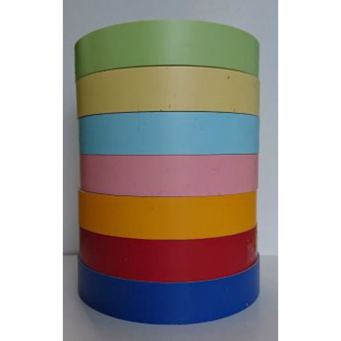 【5%OFF】PAT-504 粘着付き木口テープ 淡彩色 18mm巾 10m