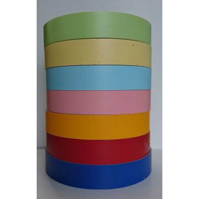 【5%OFF】PAT-611 粘着付き木口テープ 淡彩色 24mm巾 10m