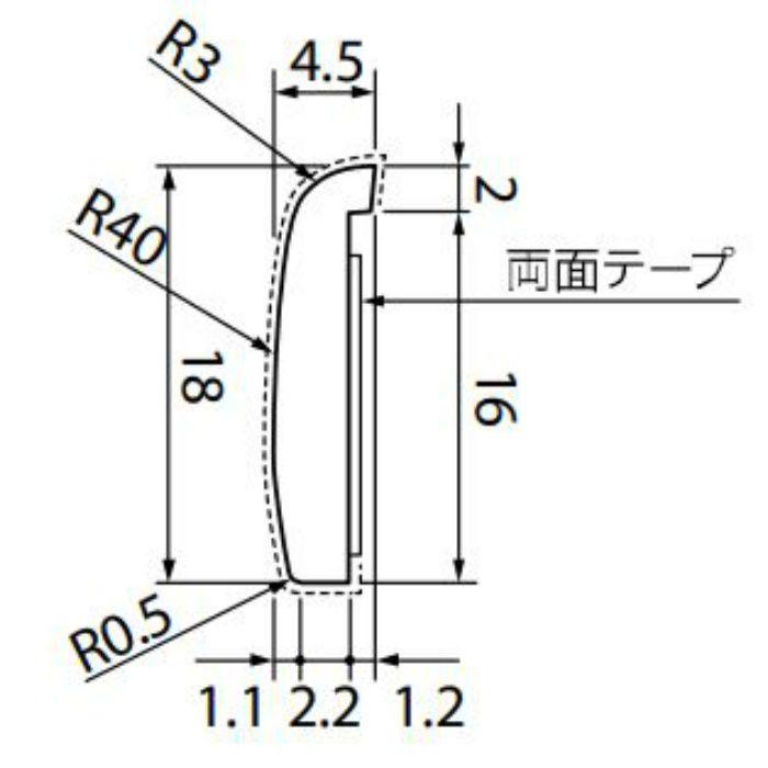 【5%OFF】KB-4756-1 Sフロア 腰壁シート 見切り材 (旧品番:KB1502-1)