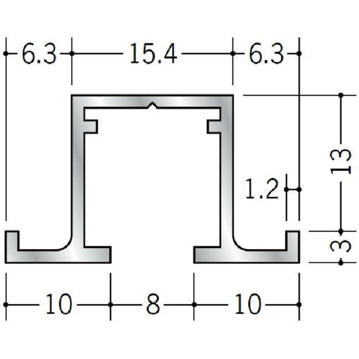 ピクチャーレール ビス止めタイプ アルミ PR-312用サイドカバー ブラック 57024-3