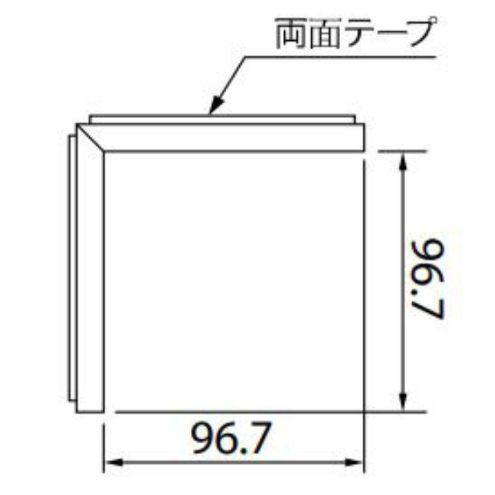 【5%OFF】KB-4757-3 Sフロア 腰壁シート 入隅材 (旧品番:KB1503-3)