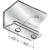 浴室天井・壁材 湯らっくす 井通部材 アルミ 結露受け穴あき(4) 焼付塗装 2m 59051
