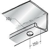 浴室天井・壁材 湯らっくす 井通部材 アルミ 結露受け右側穴あき 焼付塗装 2m 59053