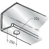 浴室天井・壁材 湯らっくす 井通部材 アルミ 結露受け左側穴あき 焼付塗装 2m 59052