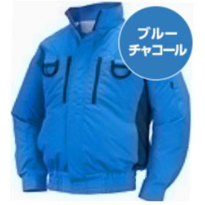 NA-113 NSPオリジナル空調服 チタン/タチエリ/フルハーネス仕様 補強有 服単品 ブルー×チャコール 3L